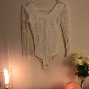 White Lace Bodysuit